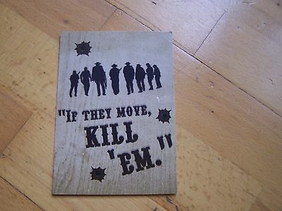 The Wild Bunch promo postcard,Sam Peckinpah,William Holden