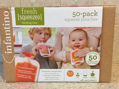 Infantino Squeeze Pouches, 4-Fl Oz,40 count