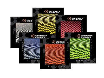 Carbon Fiber Colored Fiberglass Fabric Samples