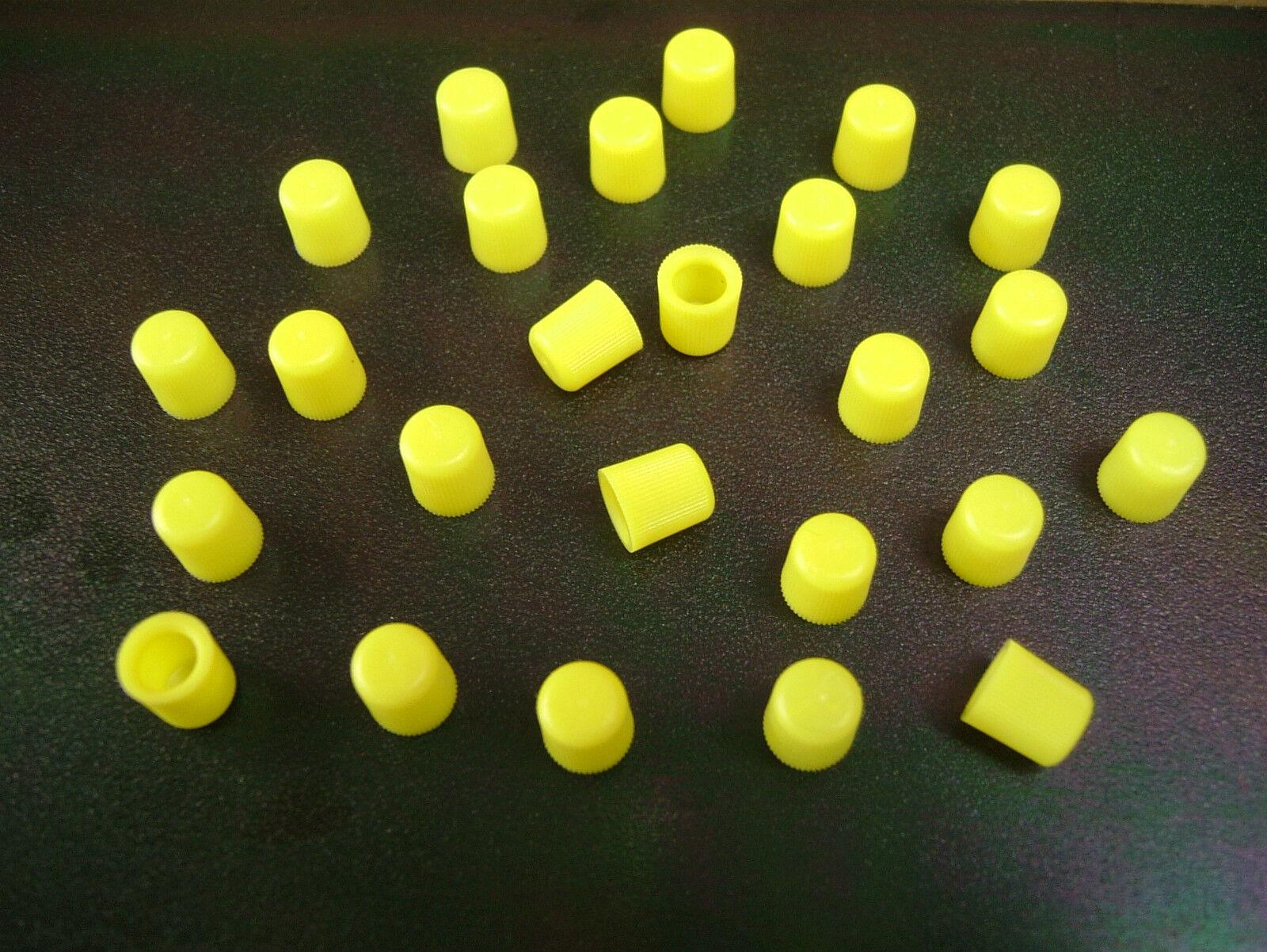 Grease Nipple Cap - Hi-Viz Yellow - Compact 'Snap-On' type - Discount Pack of 25