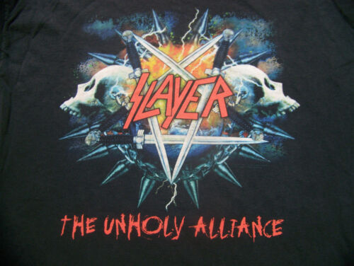 "Vintage Slayer T Shirt Mens XL ""The Unholy Alliance"""