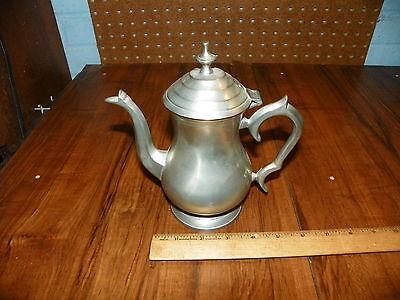 Vintage HAMPTON BRASS Pewter Teapot - Made In India                            +
