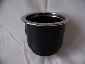 Plastic Cup Holder Boat RV Sofa or Poker Table Insert 3/16 Stainless Steel Ring