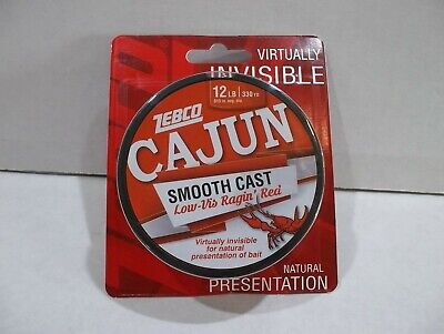 2 Spools of Cajun Line Red Lightnin/' Fishing Line 17 Lbs 700 YD