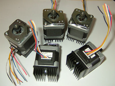 5 X Nema 17 Stepper Motor X Mill Robot Reprap Makerbot Prusa 3d Printer Heatsink