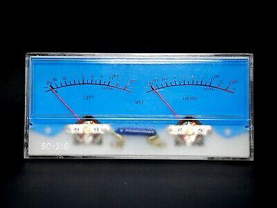 1pc Sd-318m Dual Panel Vu Meter 500ua 630 115x54mm With 12v Bulb Sd Flashstar