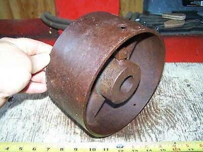 Cast Iron Belt Pulley Hit Miss Gas Engine Motor Steam Magneto Pump 1 716 Bore