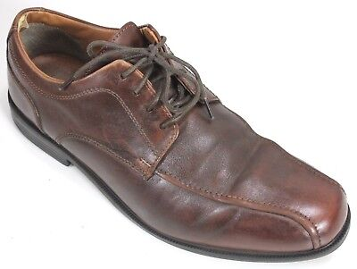 Clarks Mens  89 Beeston Stride Oxford Dress Shoes Sz 10 Brown Leather