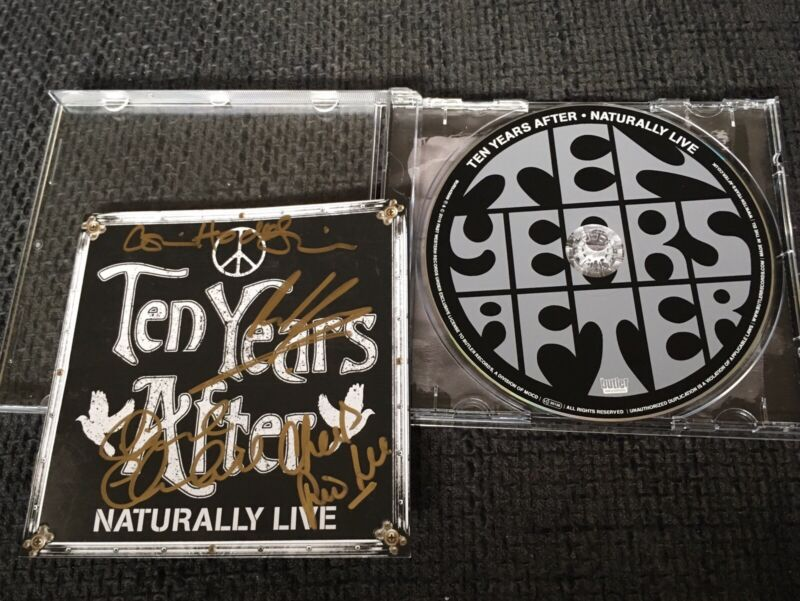 TEN YEARS AFTER signed signiert Autogramm NATURALLY LIVE CD Cover InPerson LOOK