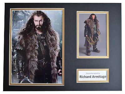 Richard Armitage Signed autograph 16x12 photo display The Hobbit Film AFTAL COA