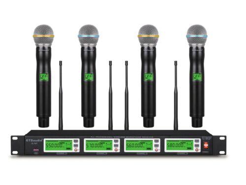 GTD Audio 4x800 Channel UHF Diversity Wireless Microphone Mic System 787M