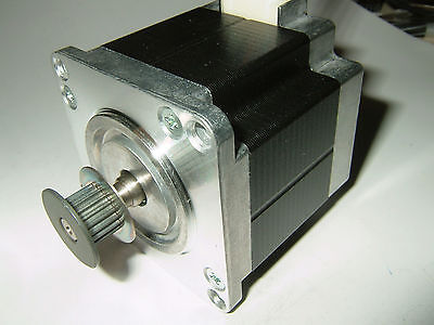Nema 23 Stepper Motor W2mm Pitch Pulley -new Cnc Mill Robot Lathe Reprap P7v
