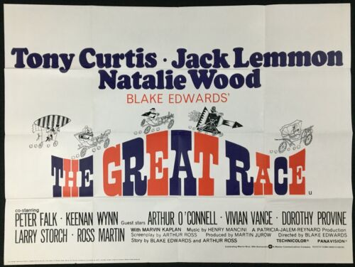 Great Race ORIGINAL Quad Movie Poster Natalie Wood Jack Lemmon 1965