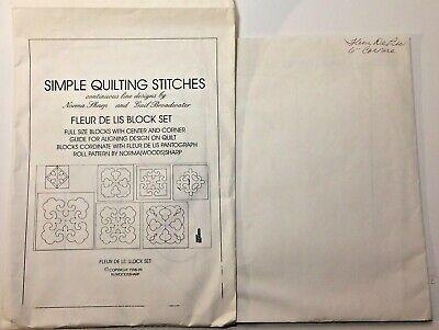 Fleur De Lis Quilting Pattern Design Block Sets & Corners Simple Quilting Stitch