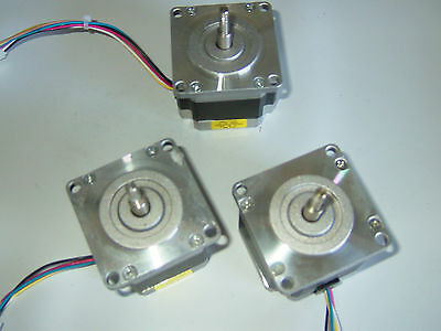 3 Nema 23 Stepper Motors -cnc Mill Lathe Robot Reprap Taig Lathe Power Feed .