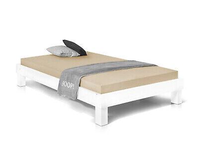 PUMBA Singlebett Futonbett 120x200 Massivholzbett Fichte weiss ohne Kopfteil