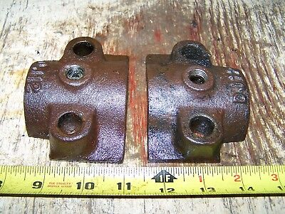 Old Fairbanks Morse Headless Z Main Bearing Caps Hit Miss Gas Engine Steam Nice