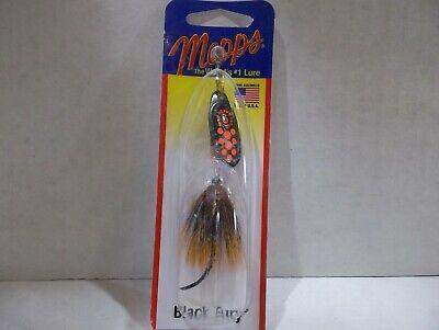 Black Fury Spinner Fishing Lure Single Hook Mepps Yellow 1//12 oz #BF0P Y