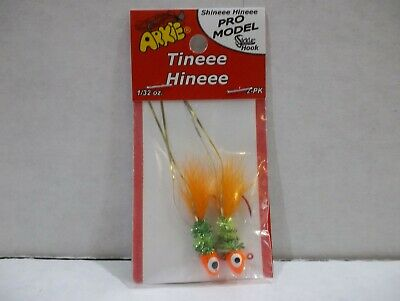 Arkie Shineee Hineeee 1//16 Oz Crappie Jigs Burnt Chicken Electric Silver 3 packs