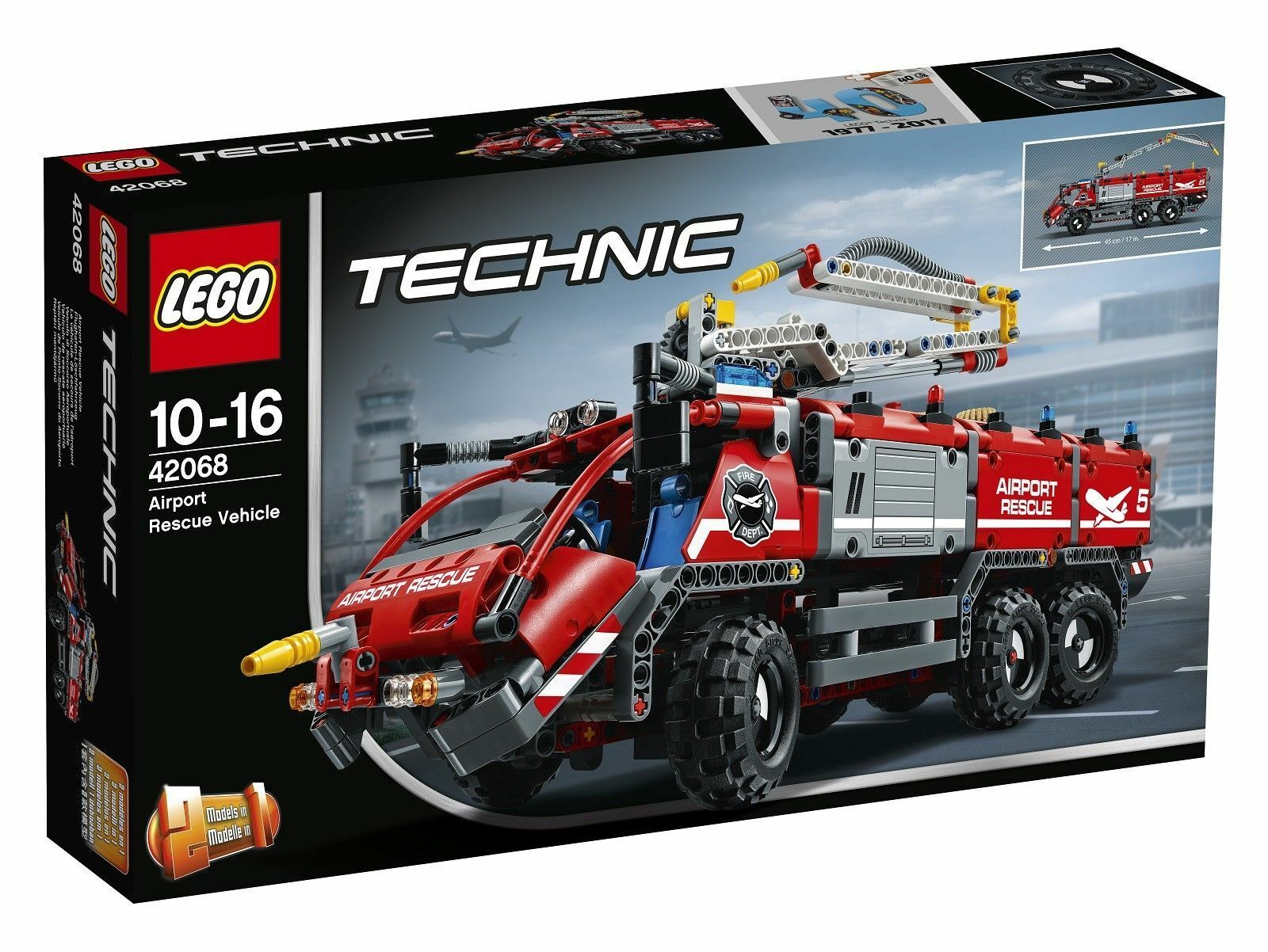 2 in 1 LEGO 42068 Technic Airport Rescue Vehicle