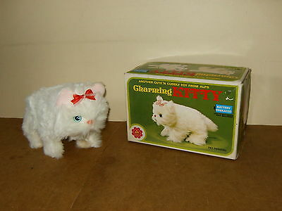 ancien jouet ALPS (No 6137) vintage battery toy - CHARMING KITTY chat -années 80