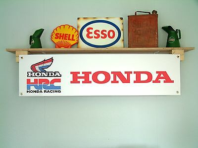 HONDA HRC– retro motorcycle racing garage or workshop pvc banner / sign