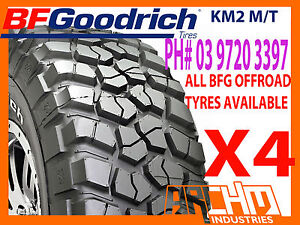 SET-OF-4-33-X-12-5-X-15-BF-GOODRICH-BFG-KM2-M-T-MUD-TERRAIN-TYRES