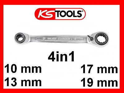 KS Tools 4 in 1 Gearplus Doppel-Ratschenringschlüssel 10 x 19 13 x 17mm 503.4565