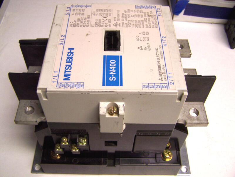 * Mitsubishi Contactor 3 Phase,110-600V, 260-350V Coil..Cat# S-N400 ... ZC-93