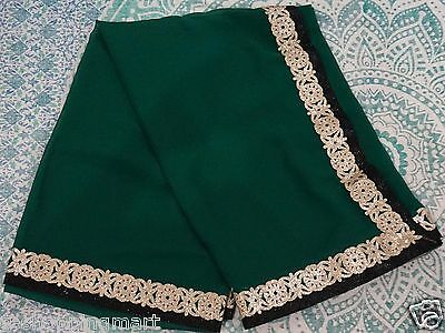 Bollywood Saree Party Wear Indian Ethnic Pakistani Designer Sari Bottle green