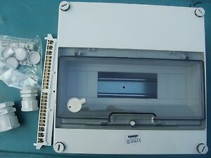 Tableau coffret electrique etanche ip55 12 module - Tableau electrique etanche ...