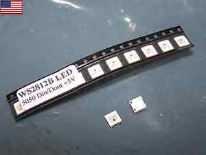 50pcs-WS2812B-Built-in-WS2811-SMD-5050-RGB-LED-Individually-Addressable-Lights