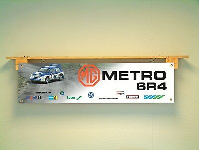 MG 6R4 Metro banner Rally Car Workshop Garage Logo Motorsport Display Leyland