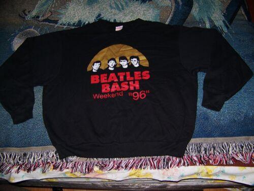 """NEW Vintage 1996 THE BEATLES BASH WEEKEND """"96"""" Sweatshirt Shirt Sz 1X (XL) Black"""