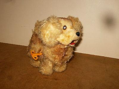 Ancien jouet CHIEN MÉCANIQUE AUTOMATE (Vintage wind up toy mechanical dog) 60/70