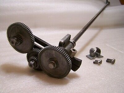 Vintage Atlas Craftsman 6 Metal Lathe Lead Drive Screw Wgears Banjo Assembly