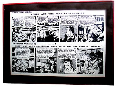 Milton Caniff Terry and the Pirates Daily Comic Strip Dragon Lady Original proof