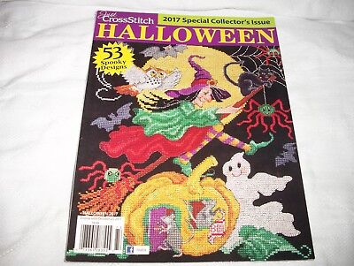 BRAND NEW :  Just CROSS STITCH Magazine HALLOWEEN 2017 Special Collectors - Cross Stitch Halloween Magazine 2017