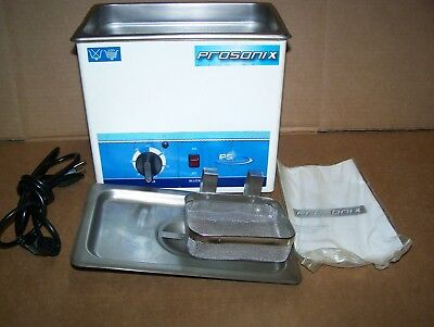 Prosonix 3 Qt Ultrasonic Cleaner With Heater-stainless Tanklid And Basket-used