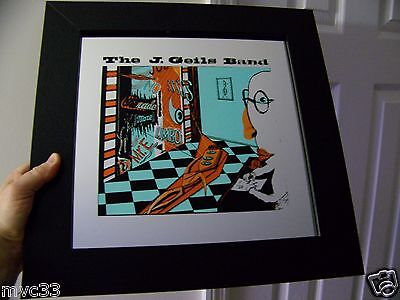 Vintage 80s J. GEILS BAND 15X15 Carnival Painted Glass Bar Mirror FREEZE FRAME
