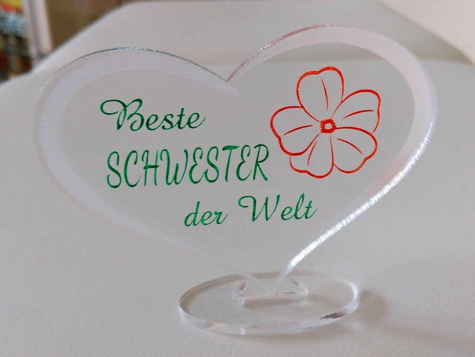 Herz Beste Schwester Muttertag Geburtstag Geschenk Schwester Liebe Ebay