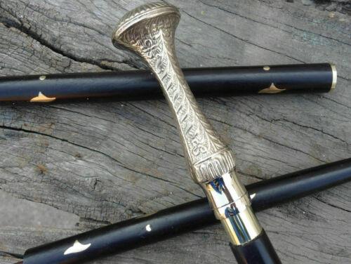 Designer Polish Long Head Solid brass Handle Wooden Walking Stick Cane Style