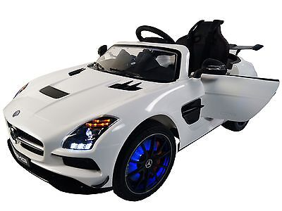 Mercedes SLS AMG 12v Battery Powered Electric Ride On Kids Toy Car Remote White