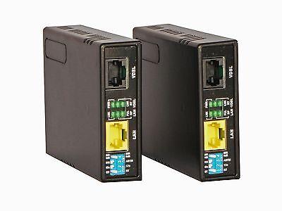 Ethernet Extender Kit TEX100 (2 Pack) 1-Mile VDSL/VDSL2 100Mbps over Phone Wire