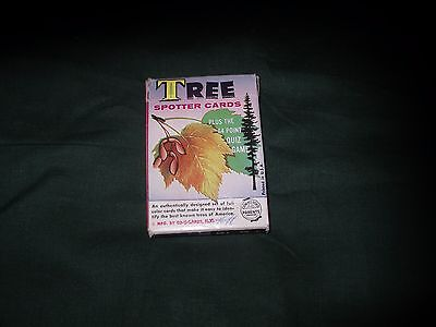 VINTAGE TREE SPOTTER CARD ED-U-CARDS 33 COUNT CARDS IN ORIGINAL BOX