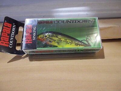 "1ct CLOWN MINNOW 3.5/"" CountDown JERKBAIT Rattle 1//3oz Bass Fishing Baits Walleye"