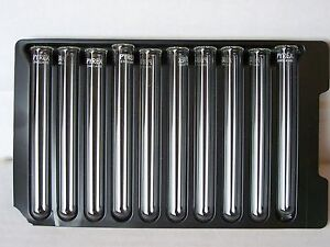10 glass pyrex borosilicate rimmed 12mm x 100mm Heavy wall test tubes new