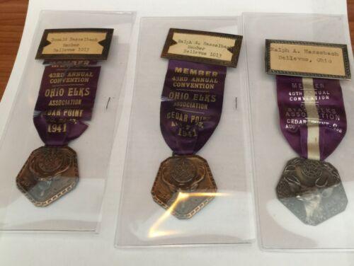 1938 & 1941 (2) FOE Cedar Point Hasselbach attendence pins (#188) Ralph 1938