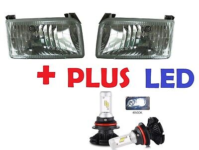 TIFFIN ALLEGRO BUS 2001-2003 HEADLIGHTS CLEAR DIAMOND DESIGN W/LED - SET