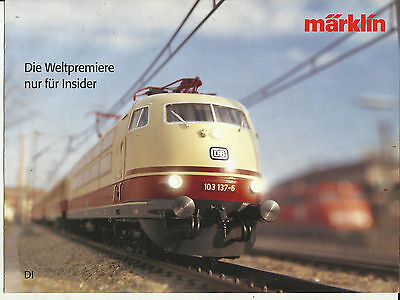 Katalog Märklin Neuheiten 2003 Weltpremiere Insider Modellbahnen in 1:87 HO